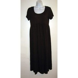 Dark Brown Casual Beach Dress S